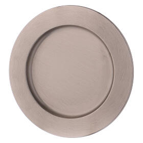 Candle holder plate in silver-plated brass diam. 6 3/4 in s2