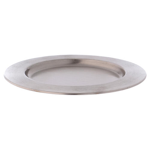 Candle holder plate in silver-plated brass diam. 6 3/4 in 1