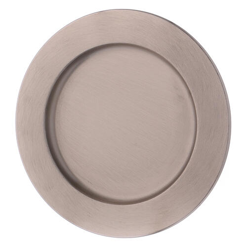 Candle holder plate in silver-plated brass diam. 6 3/4 in 2