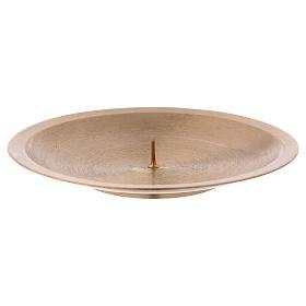 Prato para velas com pino em latão dourado opaco s1