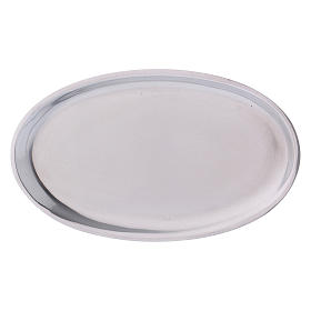 Portacandele in alluminio lucidato ovale s3