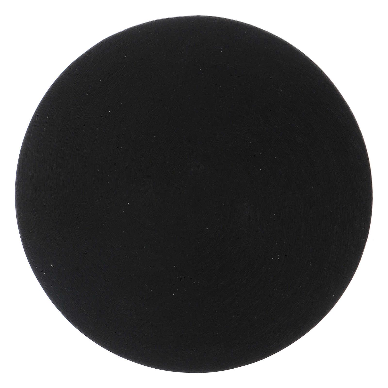 Plato portavela de aluminio negro 3