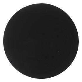Plato portavela de aluminio negro s2