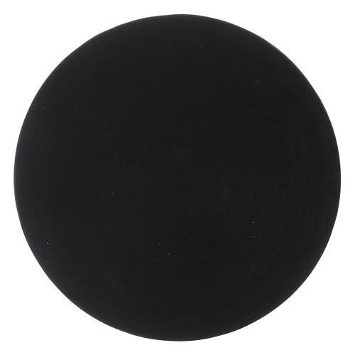 Plato portavela de aluminio negro 2