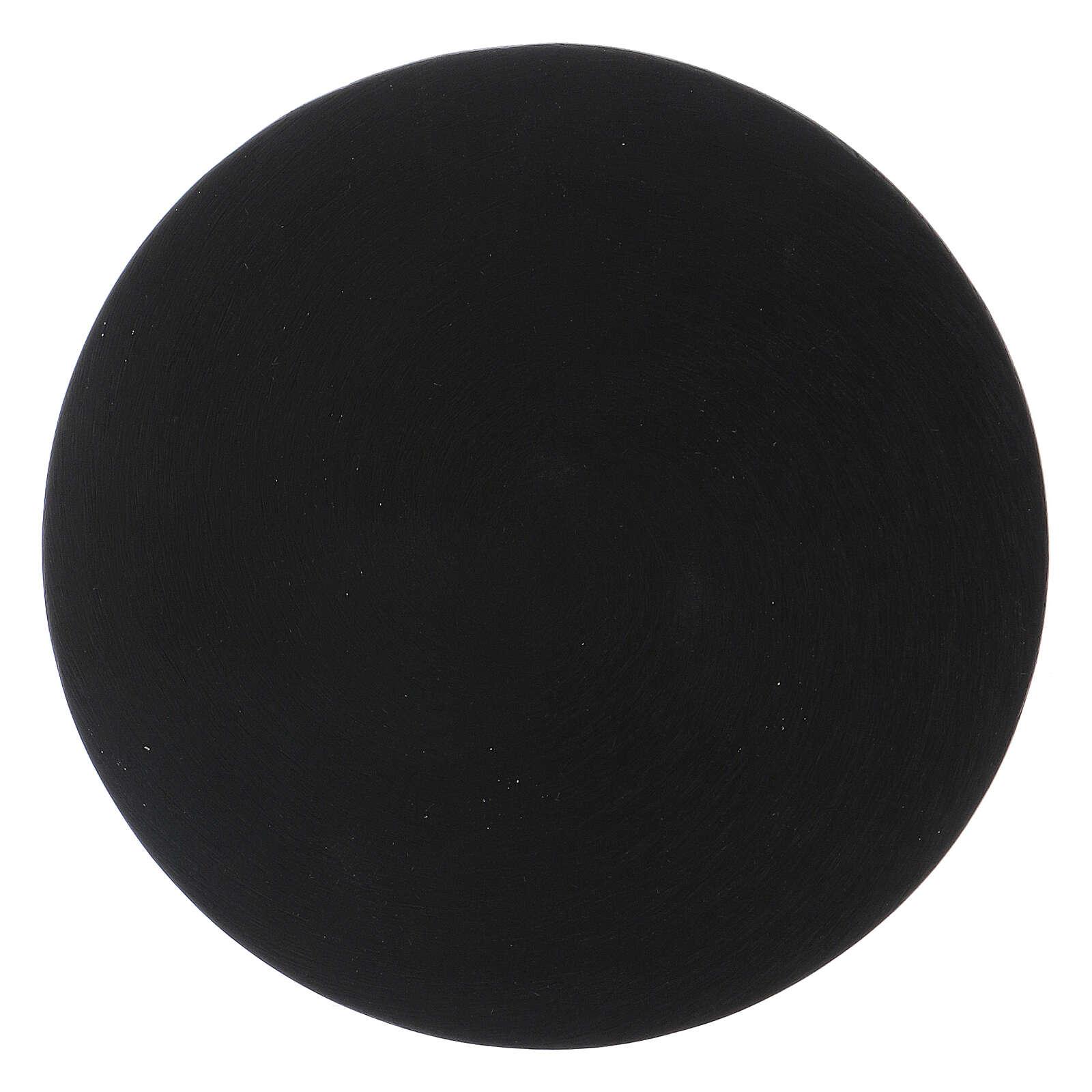 Black aluminium candle holder plate 3