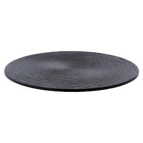 Black aluminium candle holder plate s1