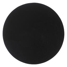 Black aluminium candle holder plate s2