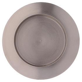Portacandele tondo in ottone argentato diam. 9 cm s2