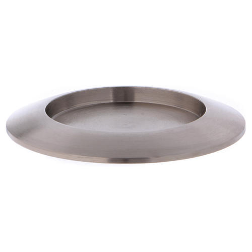 Portacandele tondo in ottone argentato diam. 9 cm 1