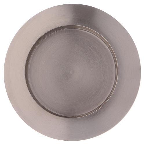 Portacandele tondo in ottone argentato diam. 9 cm 2