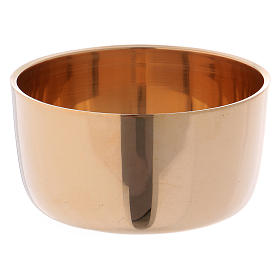 Candelieri metallo: Anello portacandele in ottone dorato diametro d. 5.5/6 cm
