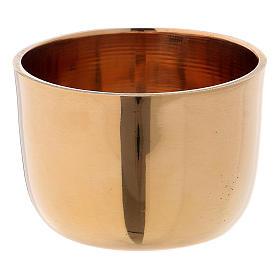 Candelieri metallo: Anello portacandela in ottone dorato lucido d. 4,5/5 cm