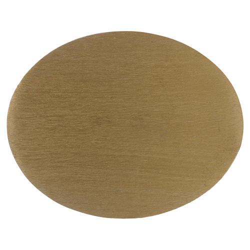 Piatto portacandela ovale in alluminio zigrinato dorato 1