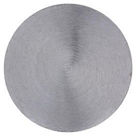 Plato portavela cóncavo aluminio plateado d. 12,5 cm s2