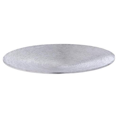 Plato portavela cóncavo aluminio plateado d. 12,5 cm 1