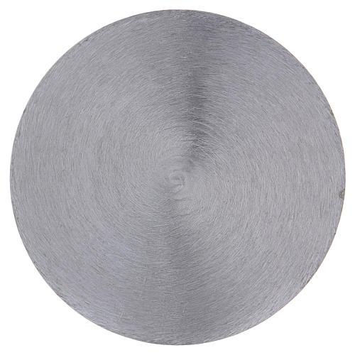Plato portavela cóncavo aluminio plateado d. 12,5 cm 2