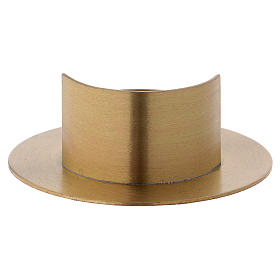 Portacandele ottone dorato satinato moderno diam. 5 cm s3