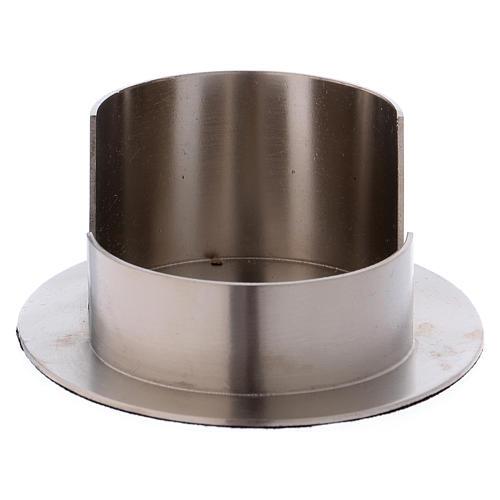 Portacandele tubo ovale ottone argentato satinato  1