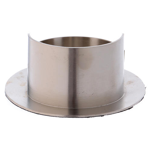 Portacandele tubo ovale ottone argentato satinato  3