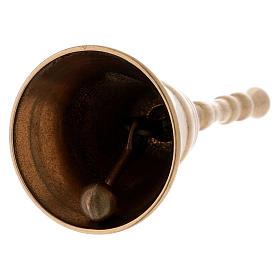 Dzwonek klasyczny z mosiądzu pozłacany błyszczący 12 cm s2