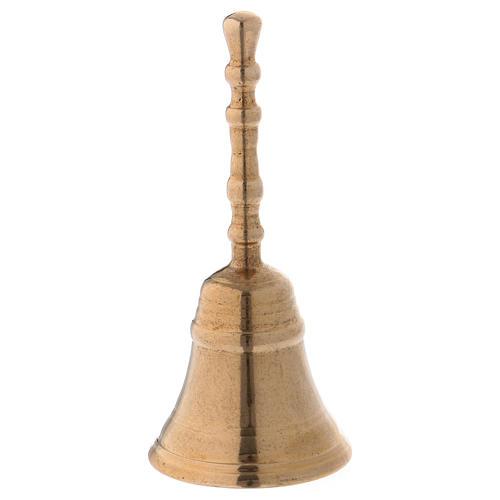 Dzwonek klasyczny z mosiądzu pozłacany błyszczący 12 cm 1