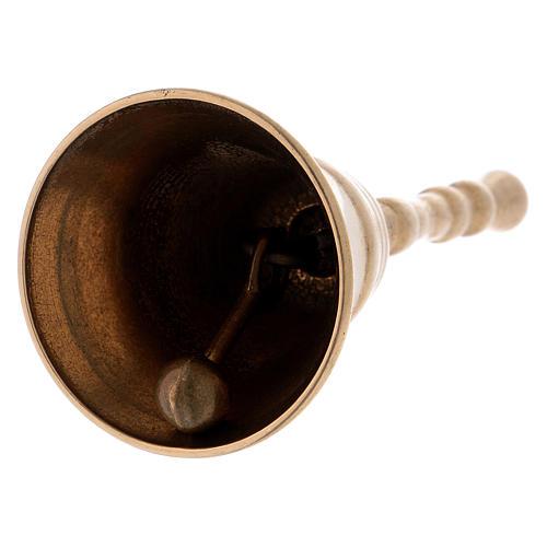 Dzwonek klasyczny z mosiądzu pozłacany błyszczący 12 cm 2