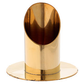 Candle holder in gold-plated brass 9 cm s1