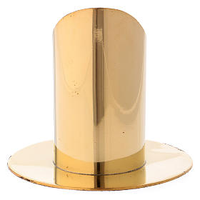 Candle holder in gold-plated brass 9 cm s3