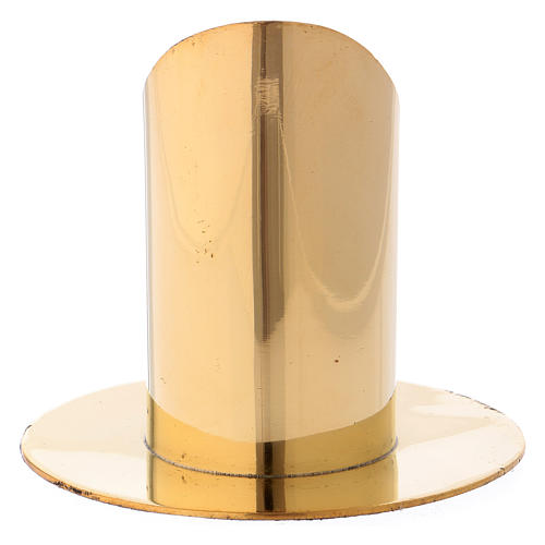 Candle holder in gold-plated brass 9 cm 3