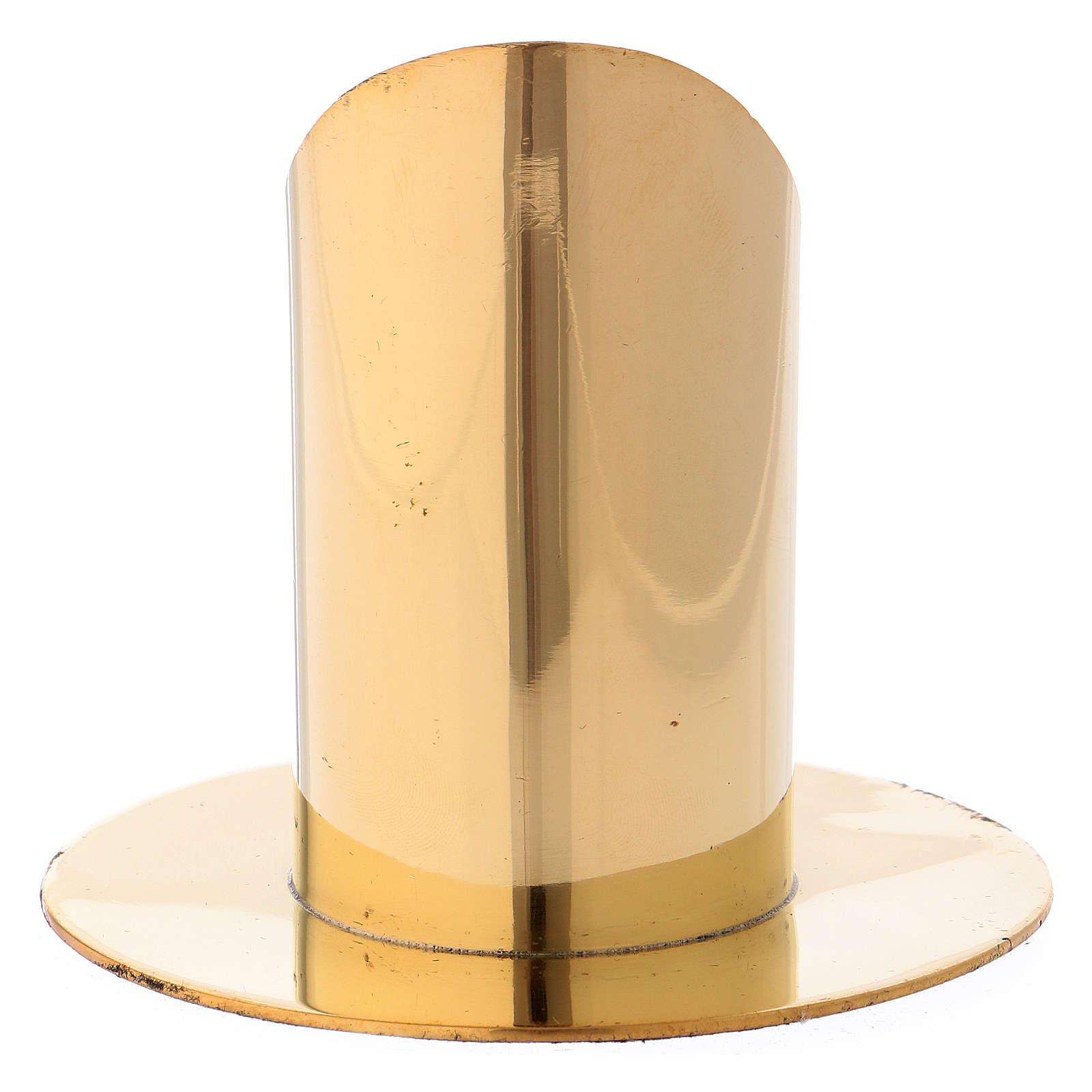 Portacandela ottone dorato h 9 cm 4