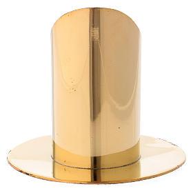 Portacandela ottone dorato h 9 cm s3