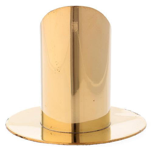 Portacandela ottone dorato h 9 cm 3