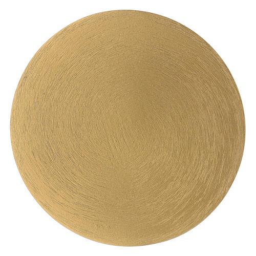 Plato portavela redondo de latón dorado 10 cm 2