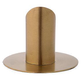 Portacandele forma cilindrica ottone dorato opaco per candela 3 cm s3