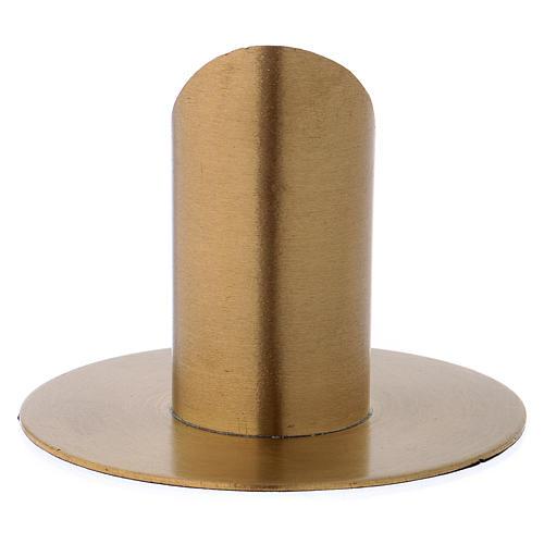 Portacandele forma cilindrica ottone dorato opaco per candela 3 cm 3