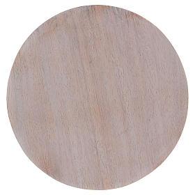 Piatto portacandele legno dipinto 12 cm s1