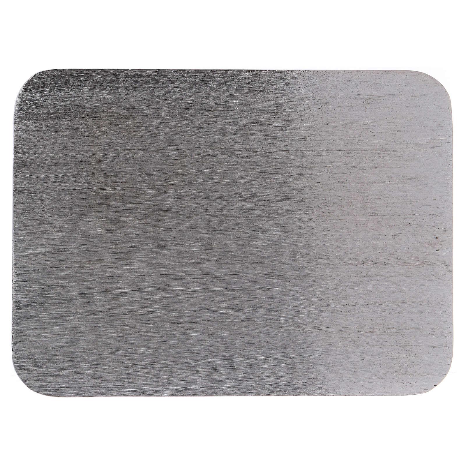 Piatto portacandele alluminio rettangolare 13,5x10 cm 3