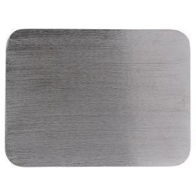 Piatto portacandele alluminio rettangolare 13,5x10 cm s1