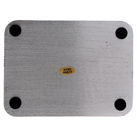 Piatto portacandele alluminio rettangolare 13,5x10 cm s2
