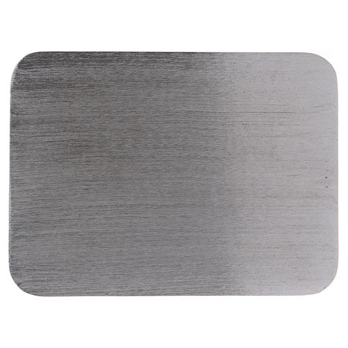 Piatto portacandele alluminio rettangolare 13,5x10 cm 1