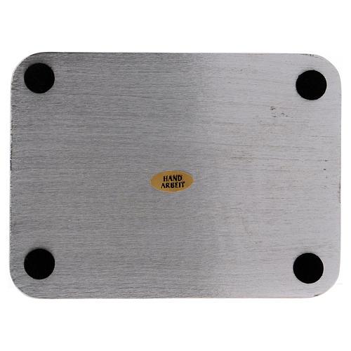 Piatto portacandele alluminio rettangolare 13,5x10 cm 2