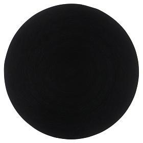 Platillo portavela aluminio negro 14 cm s1