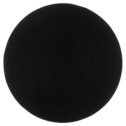 Platillo portavela aluminio negro 14 cm 1
