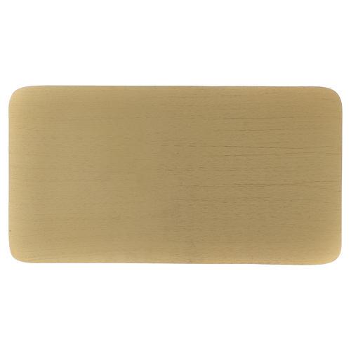 Piatto portacandele rettangolare alluminio dorato 30x16  1