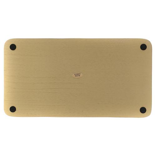 Piatto portacandele rettangolare alluminio dorato 30x16  2