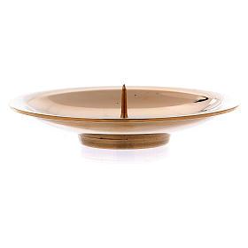 Portacandele spuntone centrale ottone oro lucido 8 cm s2