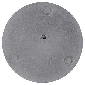 Portacandele diametro 14 cm alluminio argentato rotondo s3