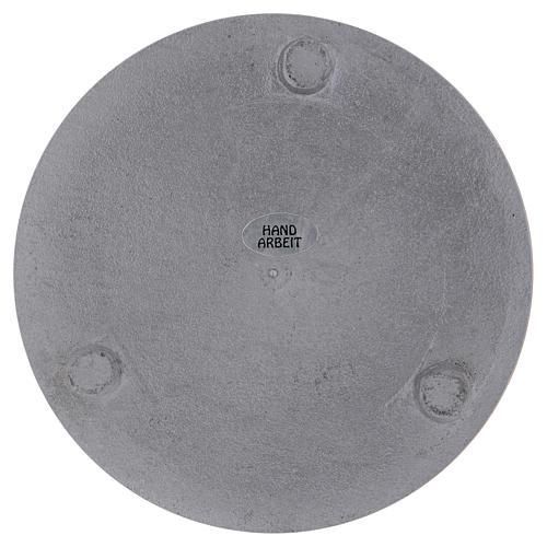 Portacandele diametro 14 cm alluminio argentato rotondo 3