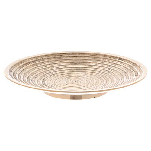Plato portavela latón oro decoración espiral 15 cm 1