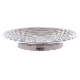 Piatto portacandele ottone nichelato spirale 11,5 cm s2